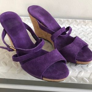 Ugg Purple suede ( with cork wedges)
